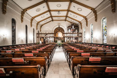 The interior of the Trinity United Church of Christ in York, Pen. Nsylvania stock image