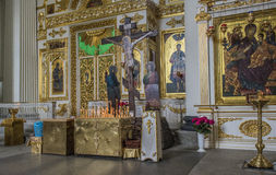 Interior of Trinity (Troitsky) Cathedral Royalty Free Stock Image