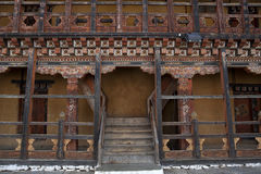 Interior of Trongsa Dzong in Bhutan Royalty Free Stock Image