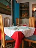 Interior tropical do restaurante Fotos de Stock Royalty Free