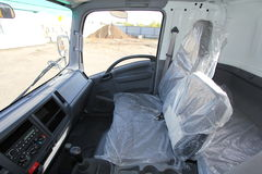 The interior of the truck cabin Isuzu inside - Russia, Moscow, 24 September, 2016 Stock Images