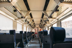 Interior of a Turkish fast train Royalty Free Stock Photo