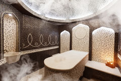 Interior of Turkish sauna, classic Turkish hammam Royalty Free Stock Image