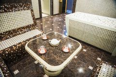 Interior of Turkish sauna, classic Turkish hammam Royalty Free Stock Photo