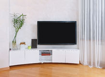 Interior TV flat screen Royalty Free Stock Images