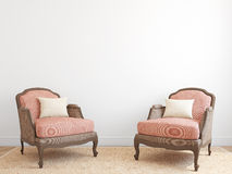 Interior with two armchairs. Royalty Free Stock Photos