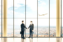 Interior with two businessmen Royalty Free Stock Images