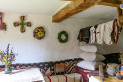 The interior of a typical old ukrainian village house Royalty Free Stock Images