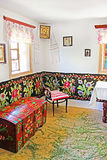 Interior of typical Ukrainian house at Historical and Cultural Reserve Busha, Ukraine Royalty Free Stock Photography