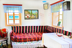 Interior of typical Ukrainian house at Historical and Cultural Reserve Busha, Ukraine Stock Photography