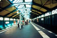 Interior of undeground station Eberswalder Strasse in Berlin Stock Images