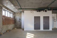 Interior under construction. Interior of business center under construction Stock Photo