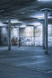 Interior of an undercover parking area Royalty Free Stock Photos