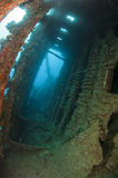 Interior of an underwater shipwreck Royalty Free Stock Images