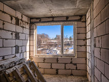 Interior of unfinished apartment Royalty Free Stock Image