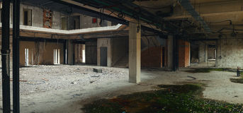 Interior of an Unfinished Building Royalty Free Stock Photos