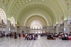 The interior of Union Station in Washington D.C. Stock Image
