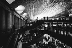 The interior of Union Station, in Washington, DC. Royalty Free Stock Image