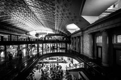 The interior of Union Station in Washington, DC. Stock Photos