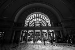 The interior of Union Station in Washington, DC. Stock Image
