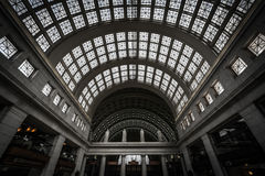 The interior of Union Station in Washington, DC. Royalty Free Stock Images