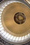 Interior of the United States. Capitol. Shot is looking up at the dome Stock Images