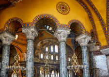 The Interior of the Upper Gallery in Hagia Sophia. Istanbul Royalty Free Stock Photos