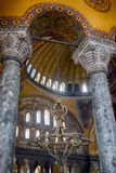 The Interior of the Upper Gallery in Hagia Sophia. Istanbul Royalty Free Stock Photo