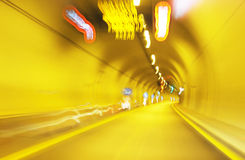 Interior of an urban tunnel without traffic Royalty Free Stock Images