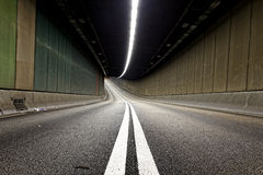 Interior of an urban tunnel without traffic Royalty Free Stock Photography