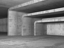 Interior urbano da sala concreta urbana vazia escura Foto de Stock Royalty Free