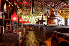 Interior of uzbek restaurant Stock Photos