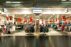 Interior of Vögele fashion clothes store Stock Image