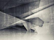 Interior vacío abstracto con la estructura poligonal Fotos de archivo libres de regalías