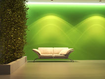 Interior vacío con la planta Foto de archivo libre de regalías