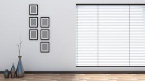 Interior vacío con las persianas Imagen de archivo