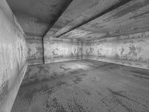 Interior vacío concreto del sitio oscuro Backg industrial de la arquitectura Foto de archivo