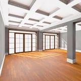 Interior vacío de la sala de estar Imágenes de archivo libres de regalías