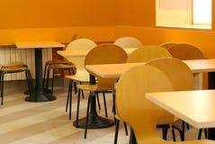 Interior vacío del café Fotografía de archivo
