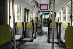 Interior vacío del omnibus foto de archivo libre de regalías