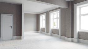 Interior vacío moderno Foto de archivo libre de regalías