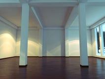 Interior vacío moderno con la planta y el sofá Fotografía de archivo libre de regalías