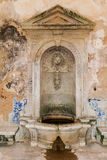 Interior of the vandalized Casa da Agua (Water House) Stock Photos