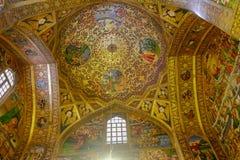 Interior of Vank or Armenian Holy Savior Cathedral. New Julfa district of Isfahan, Iran. stock photos