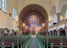 Interior of Vasa Church (Vasakyrkan) in Gothenburg, Sweden Royalty Free Stock Photos