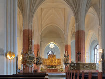 Interior of the Vasteras Cathedral Stock Photo