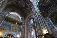 The interior with vaulted ceiling of Cathedral Royalty Free Stock Photo