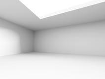 Interior vazio abstrato da sala branca Foto de Stock Royalty Free