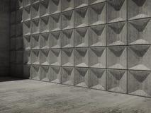 Interior vazio abstrato do concreto 3d Fotos de Stock