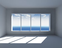 Interior vazio branco Fotografia de Stock Royalty Free